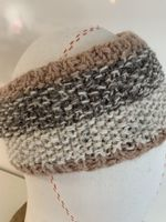 Knitted Headband in Snow